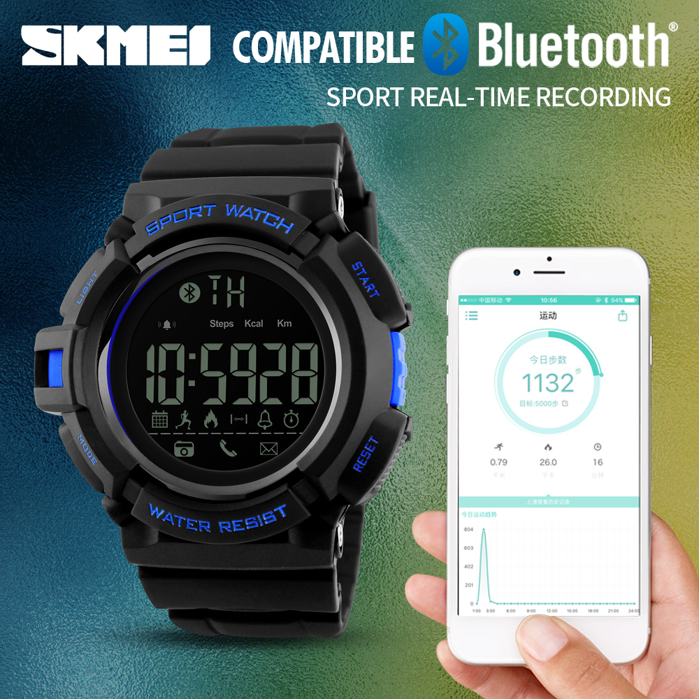 Luxury Brand Bluetooth Smart Watch Remote Camera Pedometer Calorie Fitness Tracker Men Sports Watches For iOS Android mymei bluetooth pedometer tracker smartband remote camera wristband for android ios sc