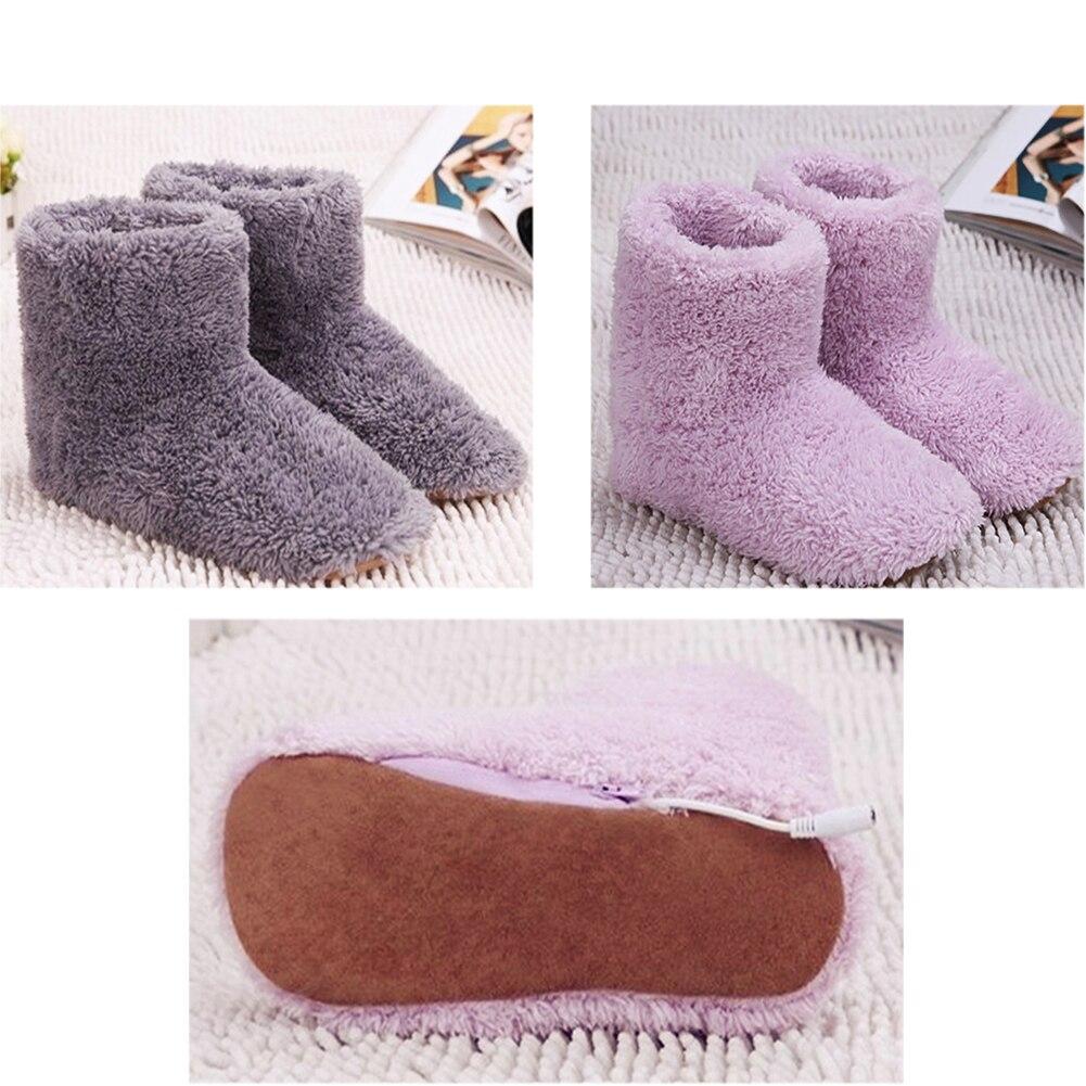 Теплые шлепанцы с подогревом через USB, толстые теплые зимние ботинки|Электрические грелки|   | АлиЭкспресс