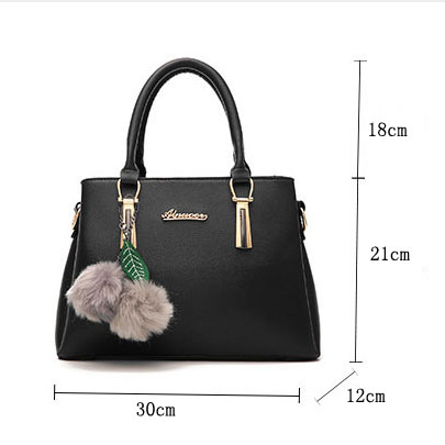 Ladies Leather Female Top-handle Bags Larger Women Bags Hair Ball Shoulder Bag Motorcycle Messenger Bagcrossbody bags for women