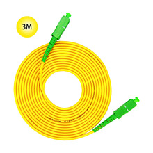 SC-APC to 9/125 Singlemode Fiber Patch Cable 3M Jumper 9 Microns APC Polish Yellow Jacket OFNR Riser-Rated For Long