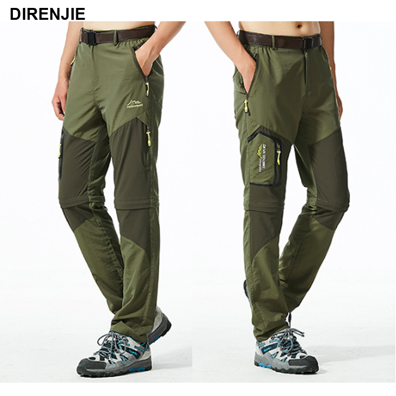 цена на DIRENJIE Man New Summer Cycling Trekking Trousers Hiking pants outdoor Climing sports quick dry camping Fishing Plus Size 5XL P9