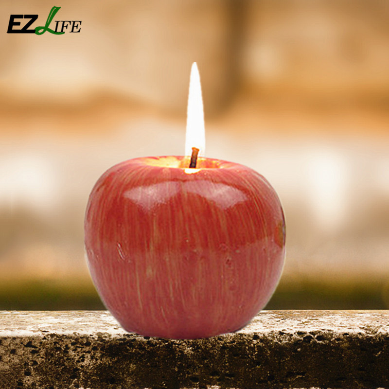 novelty apple shape decorative candles red color valentines day decorative candles for home decoration tools gift - Decorative Candles