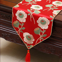 Elegant Dobby Fancy Table Runners Dining Table Pads Chinese Style High End  Tapestry Satin End Table