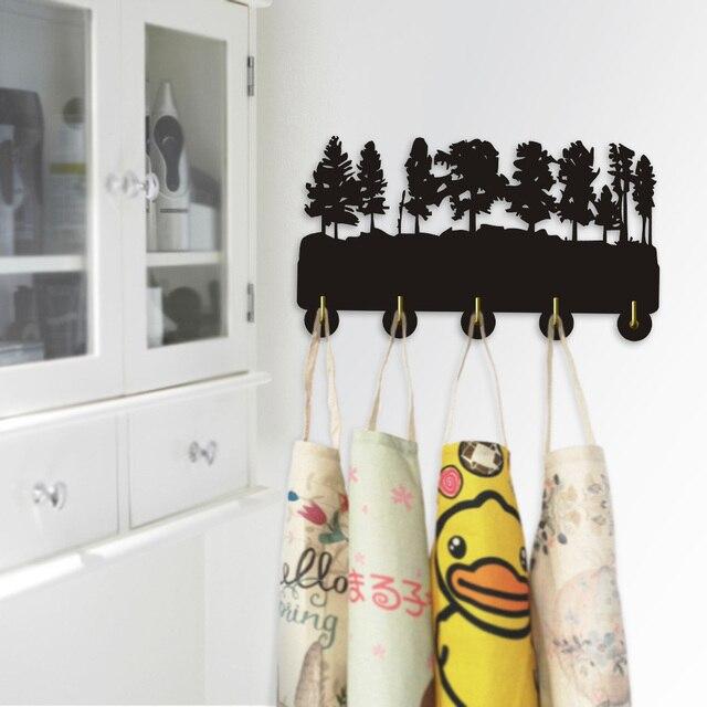 1piece Forest Trees Wall Coat Rack Hooks Hanger Modern Hook Bedroom Robe
