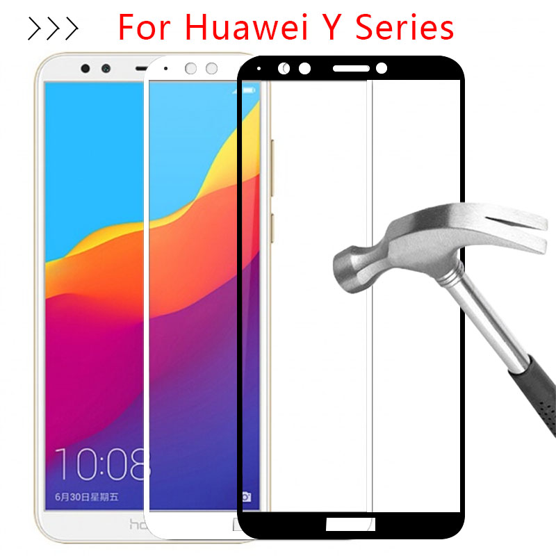 Protective Glass For <font><b>Huawei</b></font> Y3 Y5 Y6 Y7 Y9 Prime 2017 <font><b>2018</b></font> Tempered Glas On The <font><b>Y</b></font> 3 <font><b>5</b></font> 6 7 9 3y 5y 6y 7y 9y Screen Protector <font><b>Case</b></font> image