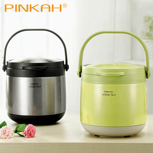 Pinkah 3L 4.5L 304 Stainless Steel Vacuum Thermos Food Jar Keep Hot 24 Hours Thermos Lunch Box No Electricity Vacuum Cooking