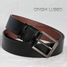 CINGHI LUSSO Handmade cowhide Leather Belt Men JeansDesigner Belts High Quality New man belt