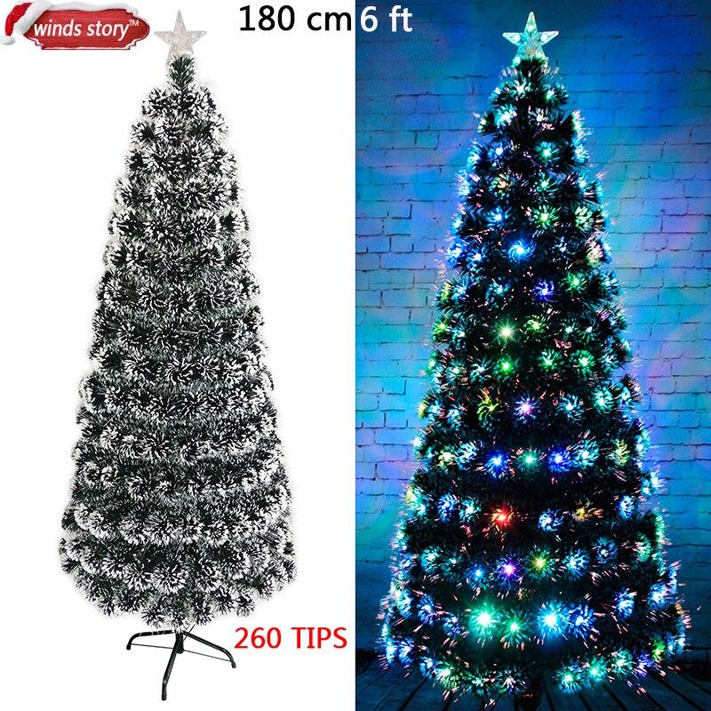 Weihnachtsbaum 4\'/5\'/6\' glasfaser LED Farbwechsel Traditionellen ...