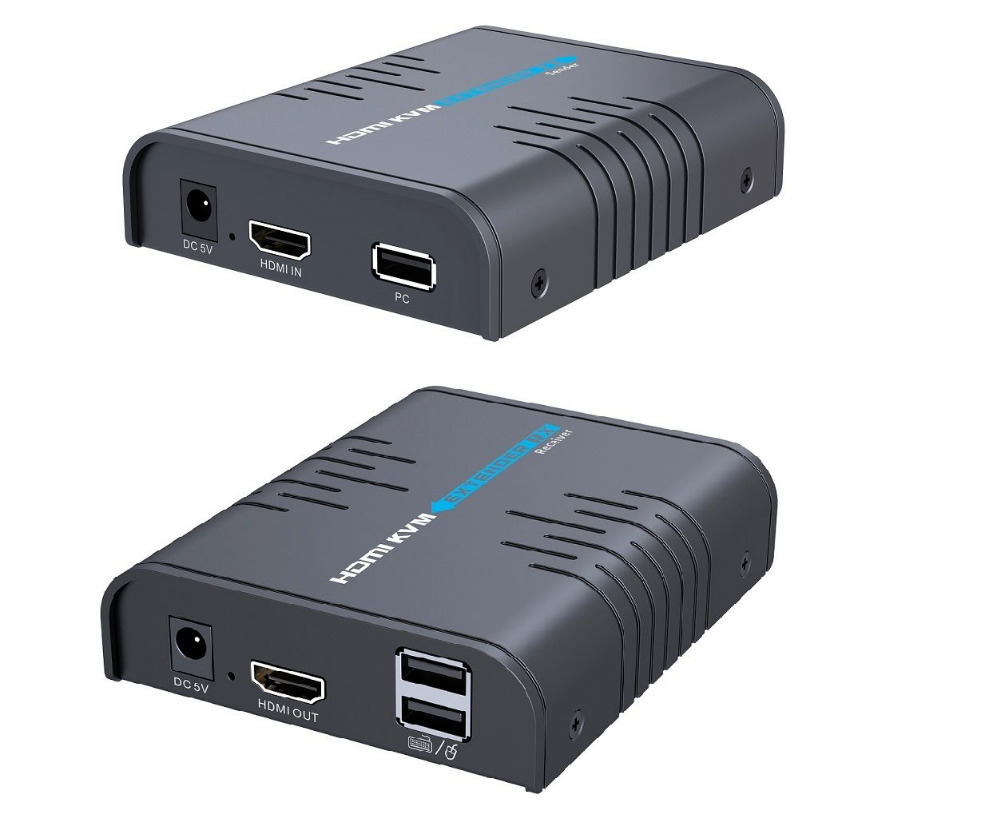 Up to 120m LKV373KVM USB HDMI KVM extender over IP by Cat5e 6 cable 1080P one
