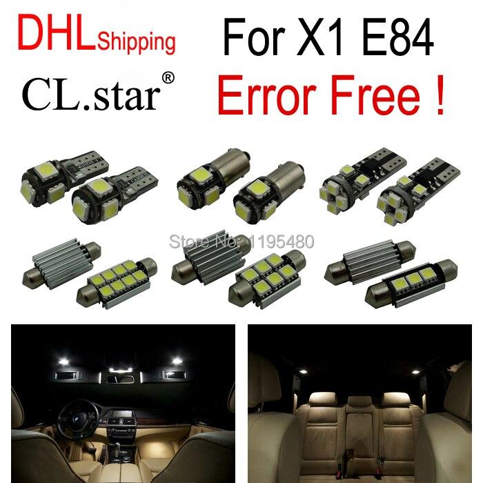 15 pc X DHL livraison sans erreur LED Kit de lumière intérieure pour BMW X1 E84 (2012-2015)
