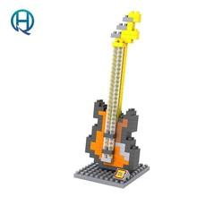 Mini Nano Blocks Musical Instruments LOZ Building Blocks Bass Action Figure Diamond Blocks Compatible Legoelieds 9195