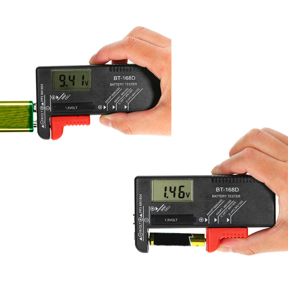 Тестер емкости батареи AA/AAA/C/D/9 В/1,5 в универсальный кнопочный элемент батарея Вольт тестер проверки цифровой дисплей инструменты