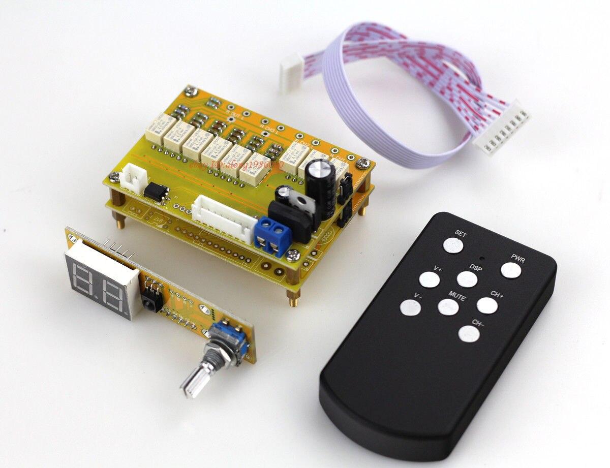 Assembeld Hi end 64 steps Relay Remote volume control board (balance version) gzlozone assembeld njw1194 remote volume conrol board treble