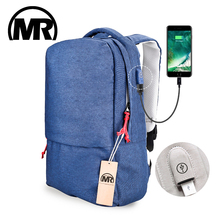 Markroyal External USB Charge Laptop Backpack Waterproof Rucksack Notebook Computer Bag 15.6 Inch for Women Men School Bag цены