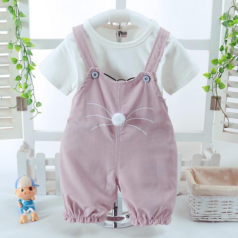 2018 Naujas mados kūdikių mergaičių drabužių rinkinys Vasaros - Kūdikių drabužiai - Nuotrauka 1