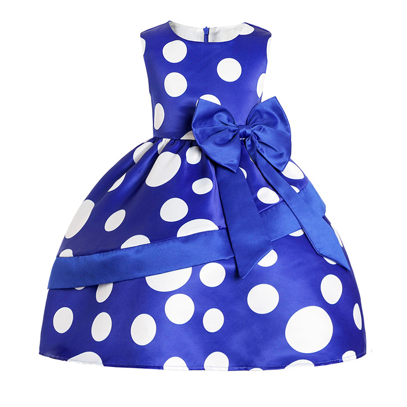 Cotton Baby Girl Dress 2018 New Summer O-neck Kids Princess Wedding Dresses for Girls 3-16Y Sweet Dot Chlidren Clothing 3ds230 clearance baby dresses princess girls dress 2 5years cotton clothing dress summer clothes for girl