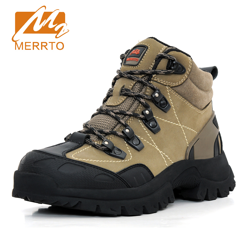 2017 Merrto Mens Hiking Shoes Waterproof Outdoor Shoes Breathable Climbing Sports Shoes For Men Brown Black Free Shipping 18123 2017 mens hiking shoes breathable rock climbing camping outdoor sports shoes for men army green black free shipping c101