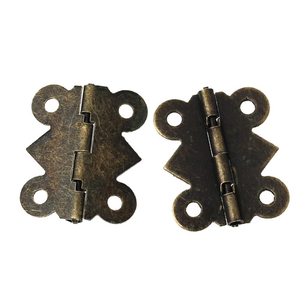 Loyaal Deur Butt Scharnieren (gedraaid 90 Graden Tot 210 Graden) Antiek Brons 4 Gaten 25mm X 20mm, 50 Stks 2016 Nieuwe