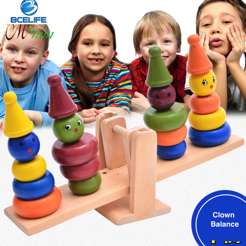 Cartoon Design Montessori Equipment Educational Toy Wooden Scale Children s Balance Toys For Children WD41 41