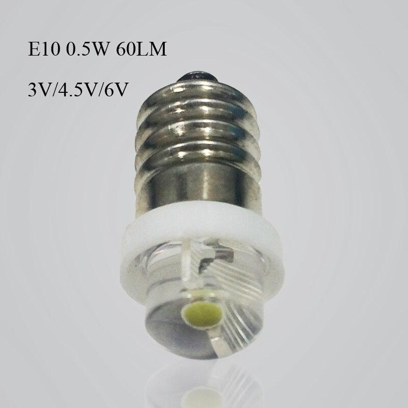 1 vnt. P13.5S E10 CREE XPG2 3W 1W 3W žibintuvėlio lemputės - Apšvietimo priedai - Nuotrauka 3