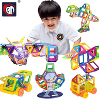 BD Magnetic Blocks 108pcs Mini Magnetic Designer Blocks 3D Model Plastic Educational Magnetic Blocks Toys For