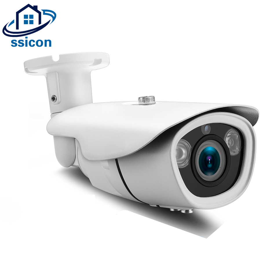 SSICON 4MP Security AHD Camera 2.8-12mm Lens Waterproof Outdoor IR 40M Night Vision Infrared Surveillance Security Bullet Camera sucam outdoor 180 360 degrees panaromic security ahd camera 4mp infrared night vision video surveillance cameras 20 meters ir