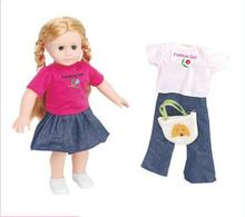 18 inch American Girl Toy Cute Blonde Simulation Girl Doll 2 Choices