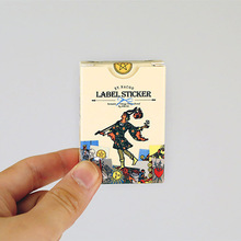 (48 pces/1 conjunto), bonito papelaria kawaii tarot scrapbooking papel adesivos presente vedação pasta filofat/decoração lable
