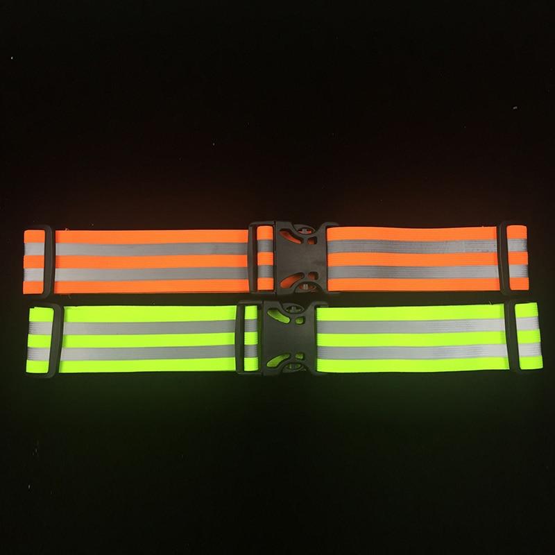 1Pc High Visibility Reflective Waist Support Safety Security Belt For Night Running Walking Biking недорго, оригинальная цена