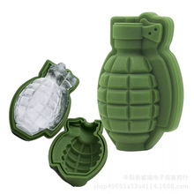 3D Grenade Shape Ice Cube Mold Tray Cream Maker Party Bar Drinks Whiskey Wine Silicone Drop Shipping 2019