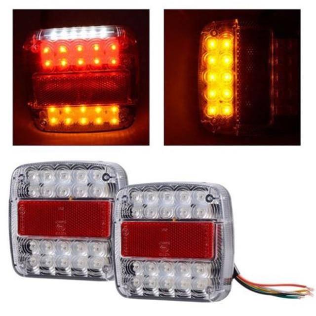 2x Новый задний Реверс стоп световой индикатор набор грузовик Led Трейлер пластина лампа.