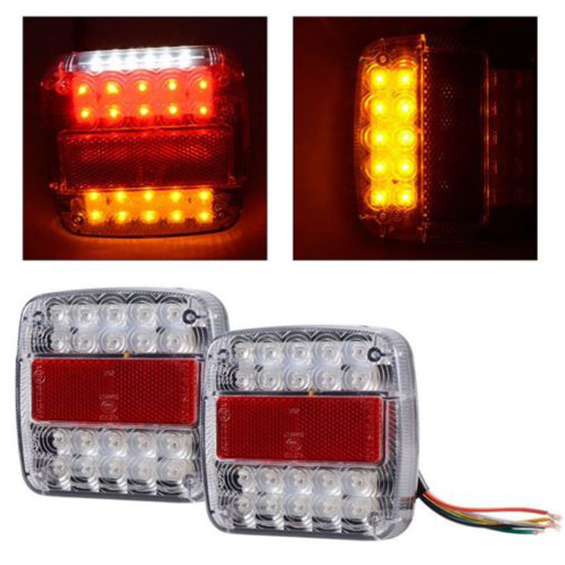 2x New Rear Reverse Stop Light Indicator Set Truck Led Trailer Plate Lamp.