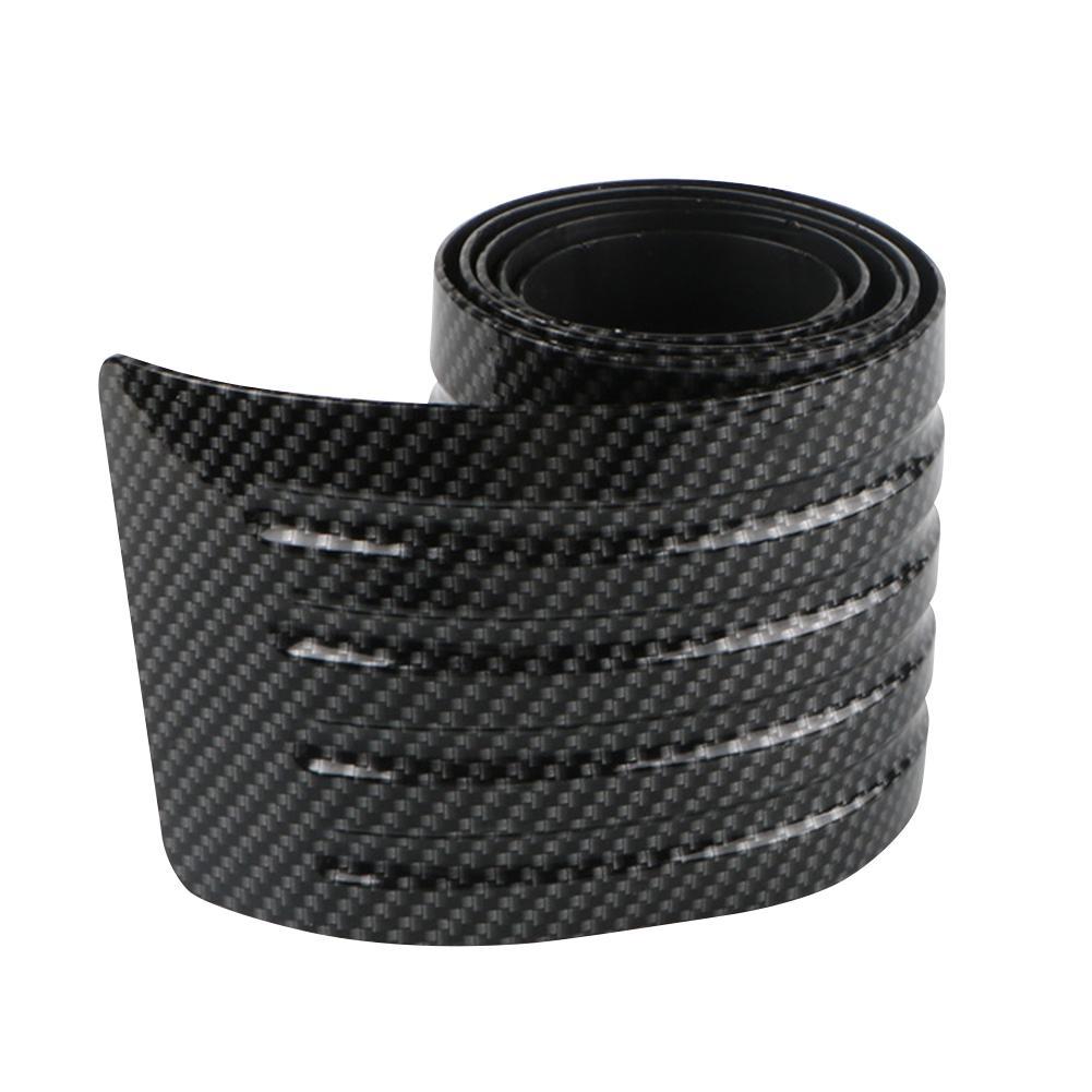 Защитная полоса для автомобиля, бампер, Резиновая полоса для автомобиля, углеродное волокно, коврик для багажника, Накладка для задней двери|Наклейки на автомобиль|   | АлиЭкспресс