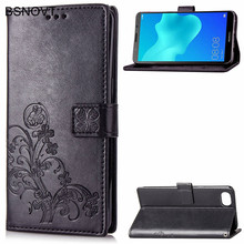 For Huawei Y5 Prime 2018 Case Soft Silicone Card Holder Phone Bag Cover Honor 7S