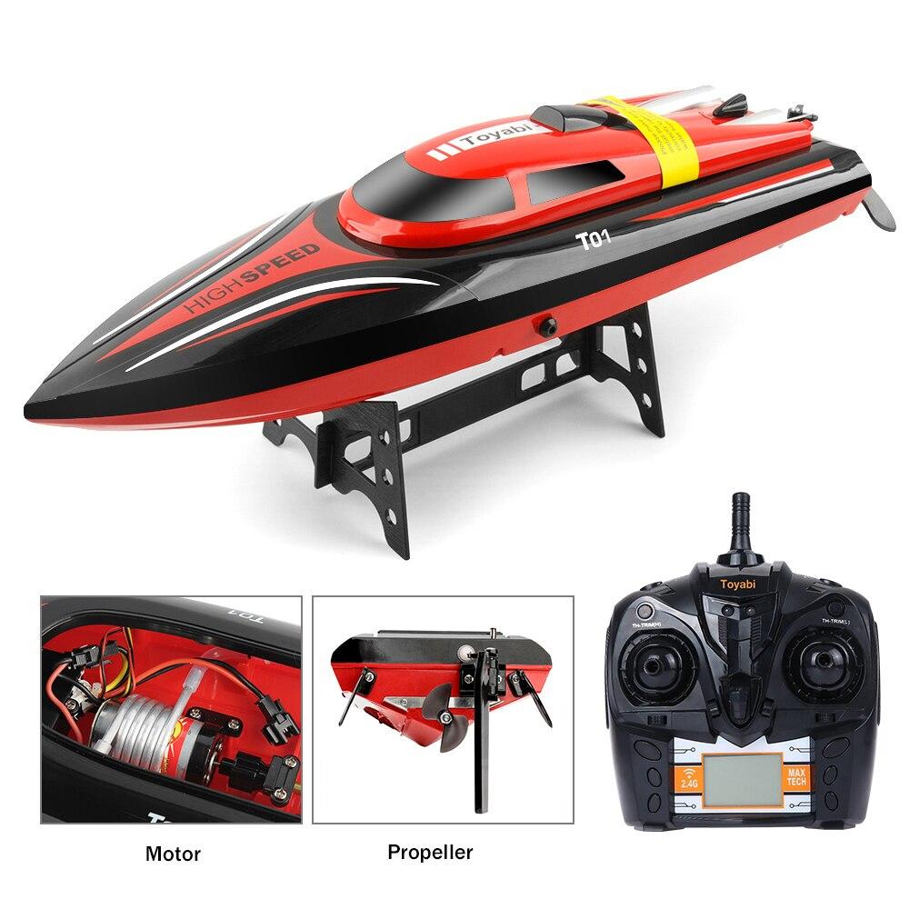 Oyuncaklar ve Hobi Ürünleri'ten RC Tekneler'de Yüksek hızlı RC tekne H102 2.4GHz 4 kanal 30 km/saat yarış uzaktan kumanda RTR tekne ile LCD ekran hediye için çocuk oyuncakları noel hediyeleri'da  Grup 1