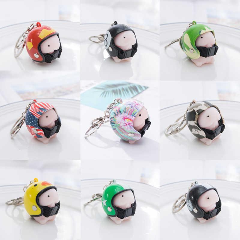 Ding CartoonAnti стресс мягкими игрушками брелок в виде шлема Тинтин брелок Подвеска Новинка розыгрыши, шутки