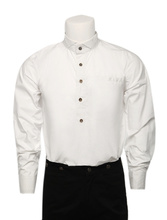 Free Shipping Popular Off white Cotton Long Sleeves Steampunk Shirt For Men