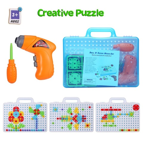 quebra cabeca construcao brinquedo broca brinquedos educativos criativos