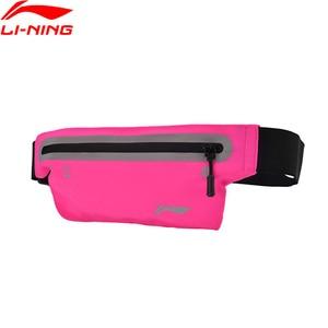 Li-Ning унисекс поясные нейлоновые Светоотражающие Водонепроницаемые мужские и женские мужские подкладочные спортивные поясные сумки li ning ABLM026 BJY035