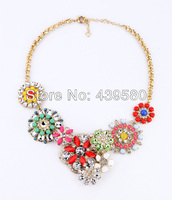 Shijie New Hot Sale Jewelry Major Suit 2014 Accessories Guardian Angel Rainbow Plant Flower Necklace