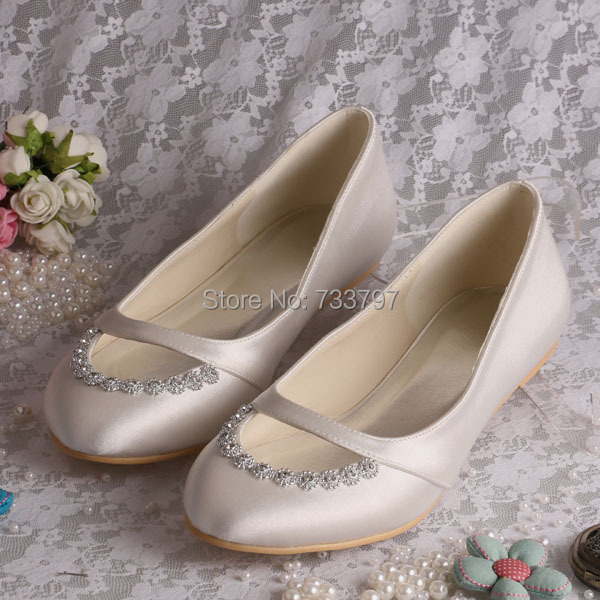 20 Colors Wedopus Custom Handmade Women Flat Bridal Shoes Wedding Ballet Ivory Satin In S Flats From On Aliexpress Alibaba Group