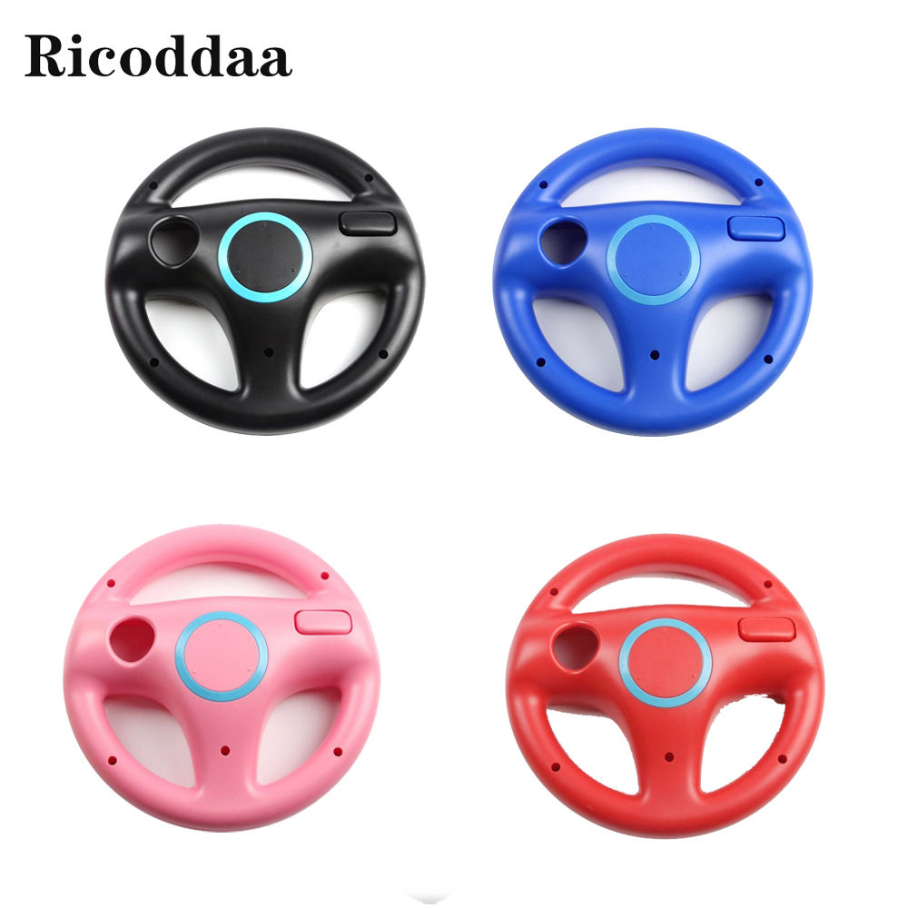 6 Colors Racing Steering Wheel For Wii Game Remote Controller For Nintend Wii Roda Remote Control Game Accessories