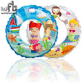6-10 years Max Capability 40KG Children Swim Ring Safety Lifebuoy Transparent Inflatable Floats Pool Summer Random color
