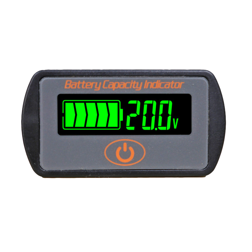 12V/24V Adjustable LCD Car Lead-Acid Lithium Battery Voltmeter Voltage Tester Touch-Type Voltage Battery Capacity Indicator LY7