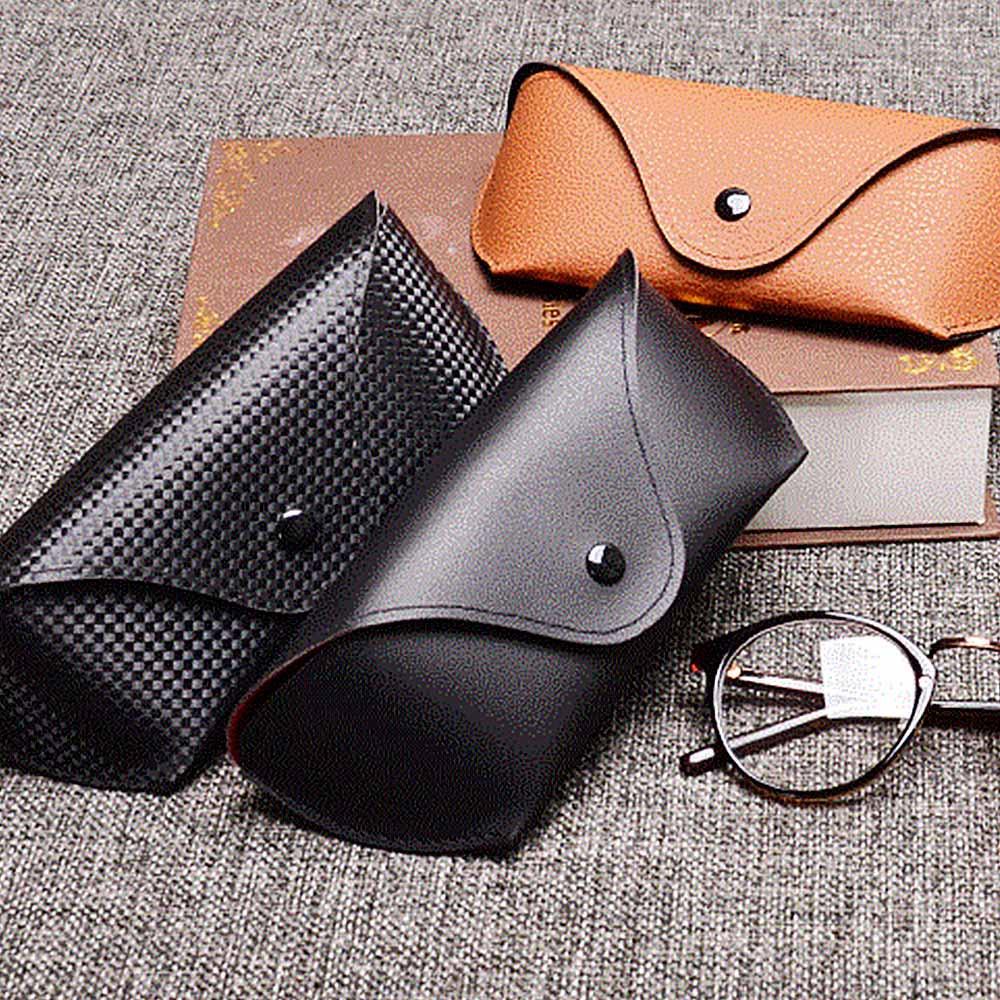 MINIMUM PU Leather Glasses Case Cover Sunglasses Glasses Holder Box Eyeglasses Solid Storage Box Light PU Sunglasses Pouch Bag