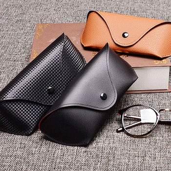 цена на MINIMUM PU Leather Glasses Case Cover Sunglasses Glasses Holder Box Eyeglasses Solid Storage Box Light PU Sunglasses Pouch Bag