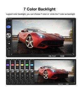 "Image 5 - 2 din araba radyo ayna bağlantı Android 9.0 dokunmatik ekran dijital ekran 7 ""HD oyuncu MP5 Bluetooth multimedya USB 2din autoradio"