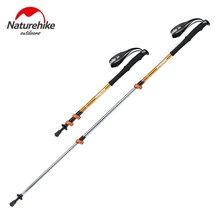 Naturehike 3 Sections Aluminum Alloy Walking Stick Alpenstocks Folding Walking Pole Canes with EVA Handle For Camping Hiking