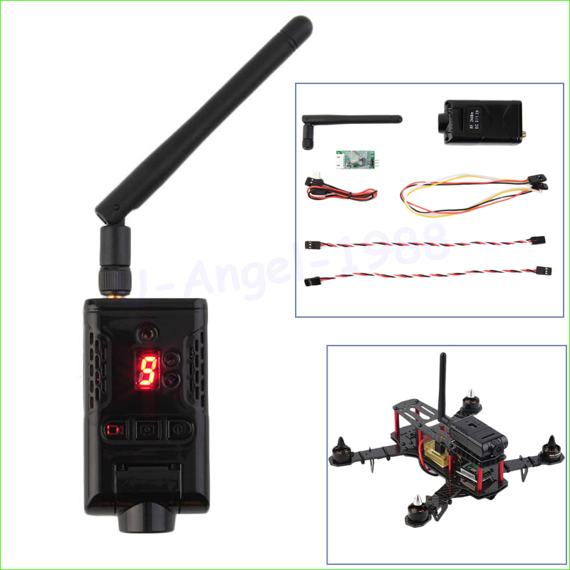 1pcs 5.8G 32CH 400MW 32 Channels HD 1080P FPV Wireless Transmitter DVR Camera Wholesale new boscam fpv 5 8g 5 8ghz 2000mw 2w 32 channels wireless av transmitter automatic signal serch tx58 2w for fpv support fatshark