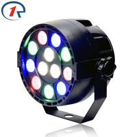 DJ 12x3W Flat LED Par RGBW DMX512 Disco Lamp Stage Light Luces Discoteca Laser Beam Luz